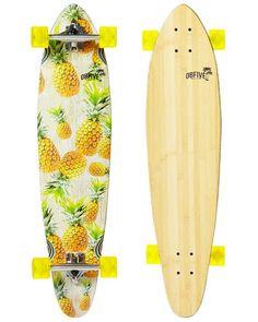 Pineapple Vibes skateboard Longboard – West French perfect for Hawaii Longboard Design, Skateboard Design, Board Skateboard, Skateboard Decks, Skates, Girls Skate, Vans Girls, Surf Girls, Long Skate