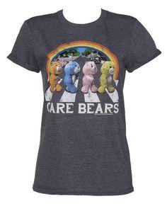 Ladies Care Bears Abbey Road Rolled Sleeve Boyfriend T-Shirt : TruffleShuffle.com