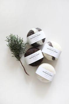 Wool wrapped soap for exfoliating! By Kahoko, made in Kenya: http://aboynamedsue.co/shop/item/kahoko/lifestyle/kufanya-soap-ginger/