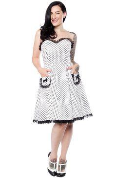 WAX POETIC CLOTHING POLKA DOT SABRINA DRESS