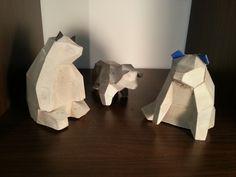 Bärenfamilie aus Beton von Beton & Form auf DaWanda.com