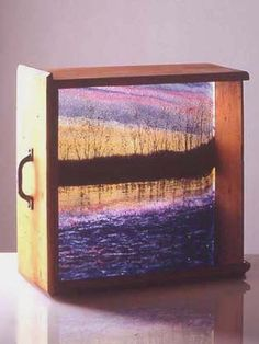 this could work with stained glass as well and some back lighting - love this idea