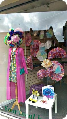 Spring / Summer window display at St Peters Hospice Charity Shop Lodge Causeway Bristol