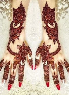 Mehndi Design Girls which is for especially for the younger girls and for this Festive Season and for also the wedding season. These are the best Mehndi Design Girls. Mehndi is an important part of our Culture. Henna Hand Designs, Dulhan Mehndi Designs, Mehndi Designs Finger, Khafif Mehndi Design, Mehndi Designs For Girls, Stylish Mehndi Designs, Mehndi Style, Mehndi Design Photos, Wedding Mehndi Designs