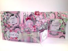 Pop up Z card created by Nicky for Craftwork Cards using Shabby Chic collection