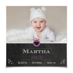 Geburtskarte Schiefertafel in Lavendel - Postkarte quadratisch #Geburt #Geburtskarten #Mädchen #Foto #kreativ #vintage https://www.goldbek.de/detail/index/sArticle/509?color=lavendel&design=4efd4&utm_campaign=autoproducts