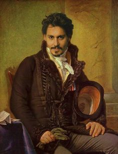 Modern celebrities in classic paintings ~ Johnny  Depp