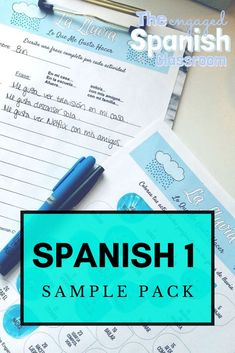 Spanish 1 is such a fun subject to teach for high school teachers because it's many students' first introduction to the Spanish language. To hook students on this foreign language and engage them in the lessons, a variety of activities is often necessary. This Spanish 1 Activity Sample Pack is a bundle of 10 resources created for foundational secondary Spanish classes. There are review games, Spanish grammar practice, Spanish speaking activities, and more. Click through to get more… Spanish Grammar, Spanish 1, Spanish Teacher, Spanish Classroom, Spanish Lessons, How To Speak Spanish, Teaching Spanish, Spanish Language, Grammar Practice
