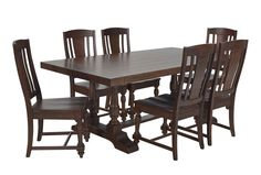 Arlo Wood 7 Piece Dining Set Living Spaces