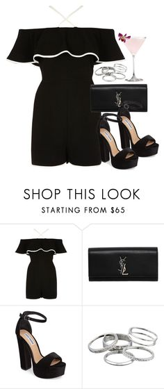 """Sin título #12881"" by vany-alvarado ❤ liked on Polyvore featuring River Island, Yves Saint Laurent, Steve Madden and Kendra Scott"