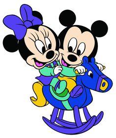 Baby Mickey & Minnie Rocking Horse