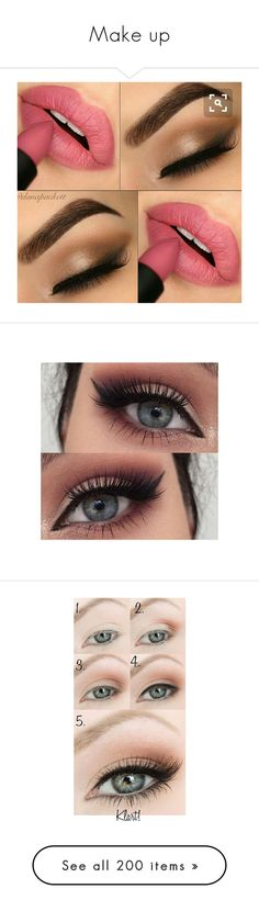"""""""Make up"""" by stylesroyals on Polyvore featuring beauty products, makeup, eye makeup, eyes, beauty, maquiagem, eyebrow makeup, brow makeup, eye brow makeup y eyebrow cosmetics"""