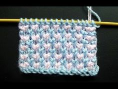Punto Ropa Bebé #2 How to Knit a Baby Stitch 2 Agujas(264) - YouTube