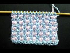 Como Tejer Puntada Ropa Bebé #1 Knit Baby Stitch 2 Agujas (260) - YouTube