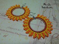 "Pattern bijoux: Orecchini ""Estate Orange"""
