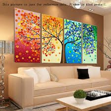 Posters & Prints Colorful Season Tree Canvas Print Wall Art Painting Picture Home Hall Decor & Garden Tree Canvas, Canvas Wall Art, Wall Art Prints, Bedroom Canvas, Canvas Frame, Bedroom Wall, Wall Art Pictures, Pictures To Paint, Painting Pictures