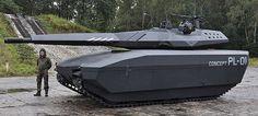"""La milicia y la tecnología van cada vez más lejos.Ahora la compañía polaca Obrum acaba de presentar el PL-01, un tanque prototipo equipado un tecnología llamada """"camuflaje adaptivo"""",la cual hace que el inmenso vehículo de..."""