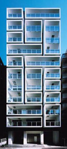 Container Architecture, Facade Architecture, Residential Architecture, Unique Buildings, Amazing Buildings, Building Facade, Building Design, Brick Facade, Commercial Architecture
