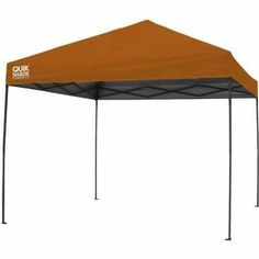 Quik Shade Expedition 100 Team Colors x Instant Canopy Shelter, Orange