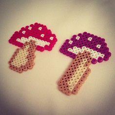 Mushrooms perler beads by raven_pp