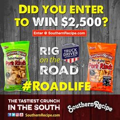 Side by side with truck driver-loving brands like Shell Rotella, we're honoring the nation's trucking industry in our 6th annual Rig on the Road contest. Do your part to support St. Christopher Truckers Relief Fund and our truck drivers.  #Snacks #Protein #TravelSnacks #Football #Basketball #Fishing #Recipes #Recipe #PorkRind #PorkRinds #Delicious #foodie #rig #truck #trucking #trucker #truckingcompanies #truckerlife #womenintrucking #4charity #charity