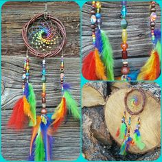 Check out this item in my Etsy shop https://www.etsy.com/listing/267655788/rainbow-dream-catcher-hand-crafted