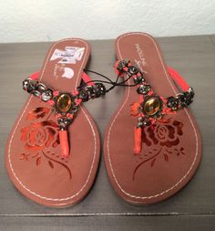 Stuart Madeline Amber Stone Sandals