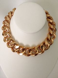 Extra Chunky RoseGold Chain Necklace by BlackPearlCouture on Etsy