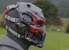 Helmet Armor, Suit Of Armor, Body Armor, Cyberpunk Character, Cyberpunk Art, Armor Concept, Weapon Concept Art, Helmet Design, Mask Design
