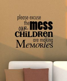 Take a look at this Black 'Making Memories' Wall Quote by Wallquotes.com by Belvedere Designs on #zulily today!