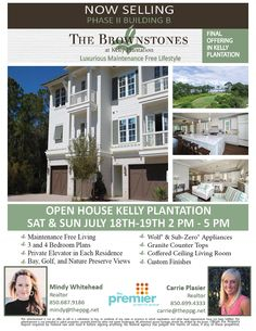 Come and see us today at The Brownstones in Kelly Plantation!