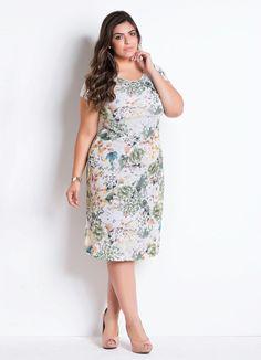 588a51f60 Vestido com Recorte (Floral) Moda Evangélica   vestidos   Pinterest ...