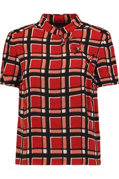 MARC BY MARC JACOBS Checked crepe shirt. #marcbymarcjacobs #cloth #shirt