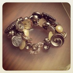 Silver Vintage Button Bracelet by KeyToLock on Etsy, $30.00