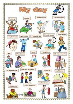 My day #apprendreanglais,apprendreanglaisenfant,anglaisfacile,coursanglais,parleranglais,apprendreanglaisfacile,leconanglais,apprentissageanglais,formationanglais