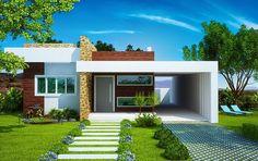 Fachadas de casas pequenas: Bonitas e modernas!   Papo de Casa: blog de decoração