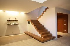 Wonderful Stairs Without Railing Interior Stair Railing Designs That Has Wooden Floor Decor With Wooden Stairs Image 85 Wooden Staircase Design, Wood Floor Design, Wooden Staircases, Wooden Stairs, Modern Staircase, Stair Design, Contemporary Stairs, Staircase Ideas, Spiral Staircases