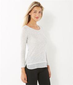 T-shirt femme trompe l'oeil - TEE SHIRT Femmes Camaïeu