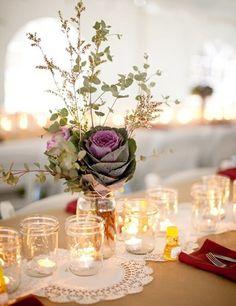 Windlichter Marmeladenglas Tischdeko Idee