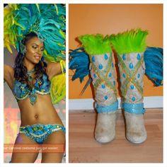Trinidad Carnival Boots DIY #4