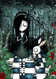 Alice in wonderland by CountessBloody on DeviantArt Tous droits réservés Le Petit monde Tentaculesque©copyright 02/2015