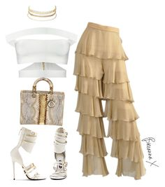 """Untitled #3388"" by breannamules ❤ liked on Polyvore featuring Balmain, Charlotte Russe, Tom Ford and Christian Dior"