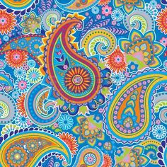 Seamless pattern based on traditional Asian elements Paisley photo