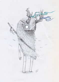 Hand drawing creatures on Behance