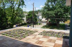 Green grid rooftop garden