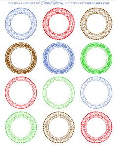Free Vintage Round Labels For All Your Gifts Part Of A Label Kit Festive