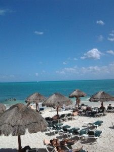 Riu Palace Peninsula resort beach huts in Cancun! Wish I was there right now!