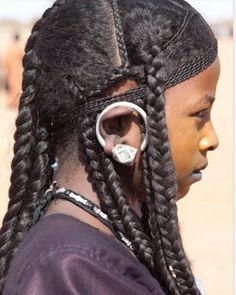 Tuareg girl, Africa