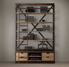 Dutch Shipyard Shelving - eclectic - bookcases cabinets and computer armoires - Restoration Hardware