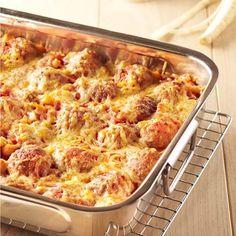 Gegratineerde gehaktballetjes in pastinaak-tomatensaus Lard, Sauce Tomate, Cauliflower, Macaroni And Cheese, Food And Drink, Yummy Food, Yummy Recipes, Pasta, Meat